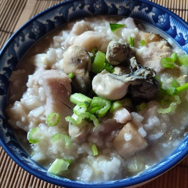 芋頭鮮蚵粥-食譜-大甲芋頭