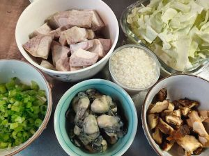 芋頭鮮蚵粥-食譜-食材