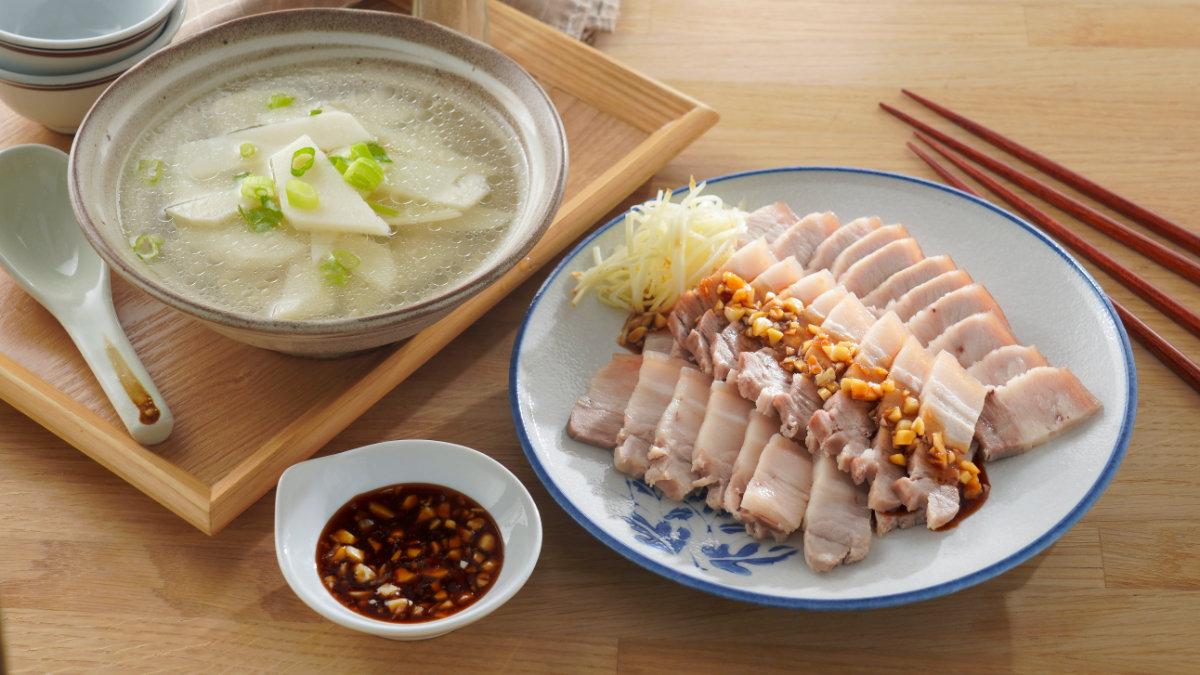竹筍湯-蒜泥白肉