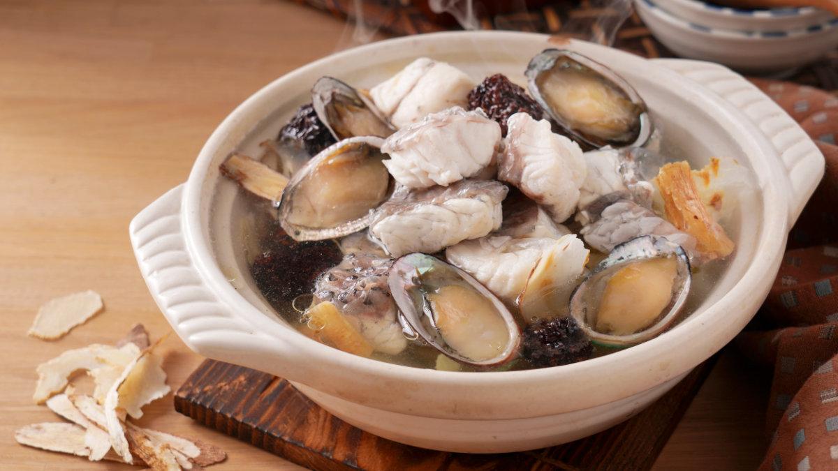 天麻參耆燉鱸魚九孔