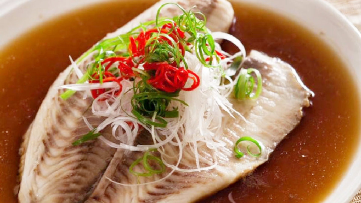 生態雕魚料理-破布子蒸鯛魚排