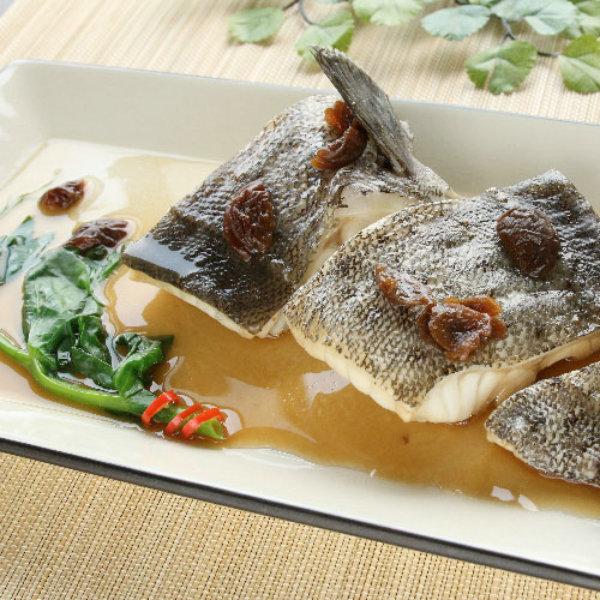 紫蘇梅蒸鮮魚-石斑魚