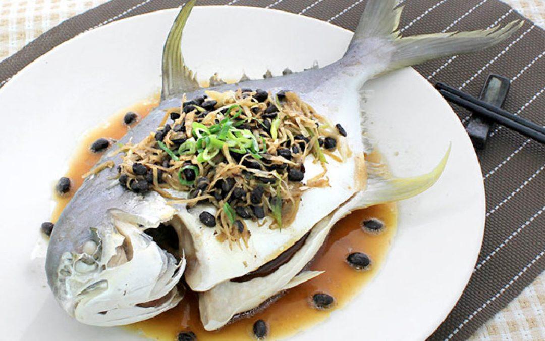 海金鯧料理 豆豉蒸海金鯧魚