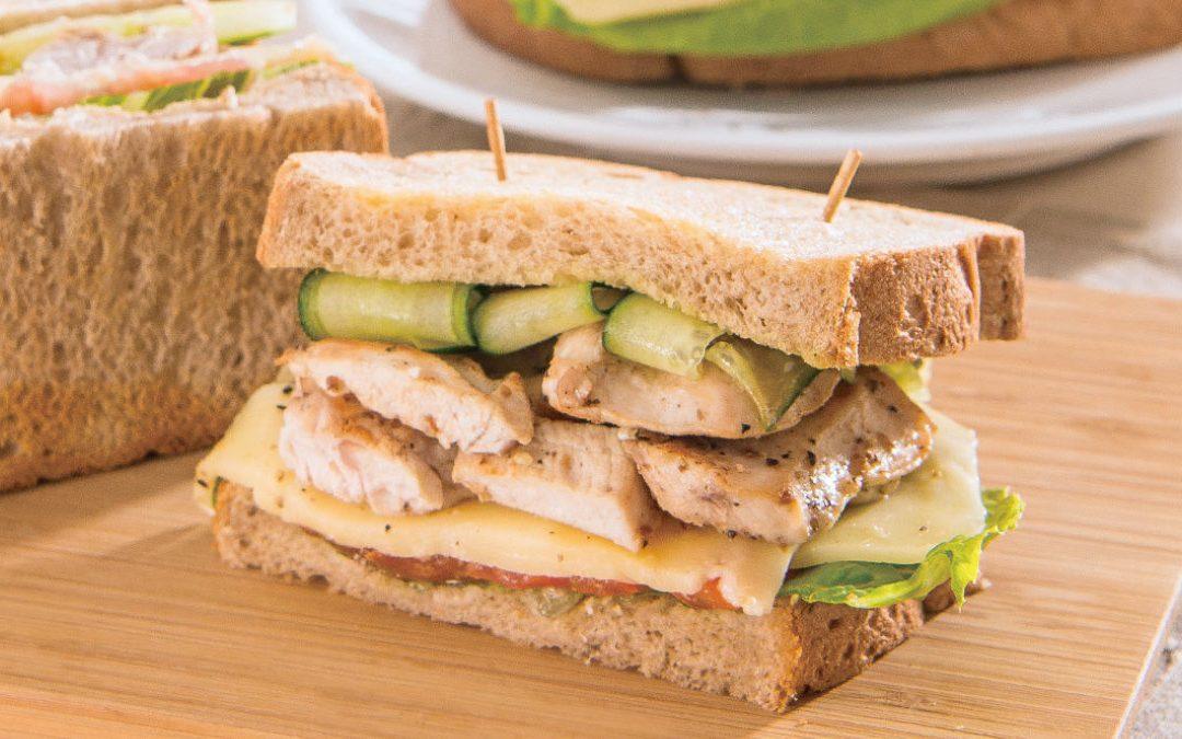 輕食料理 青蔬雞肉三明治