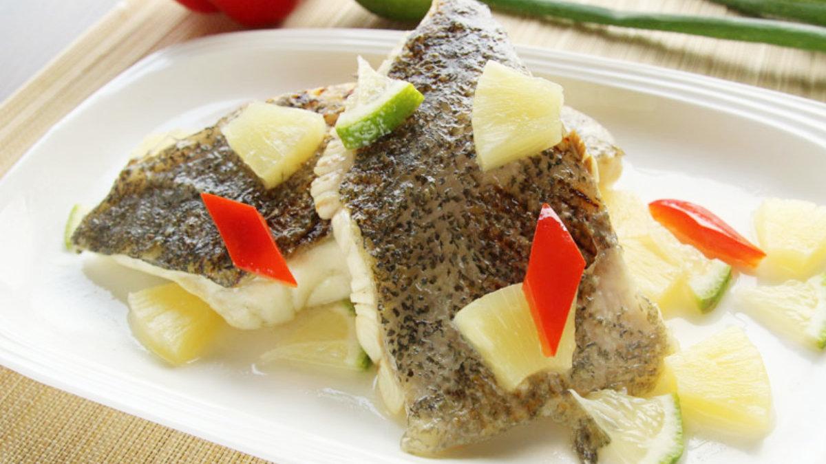 石斑魚料理-香煎石斑佐白酒鳳梨