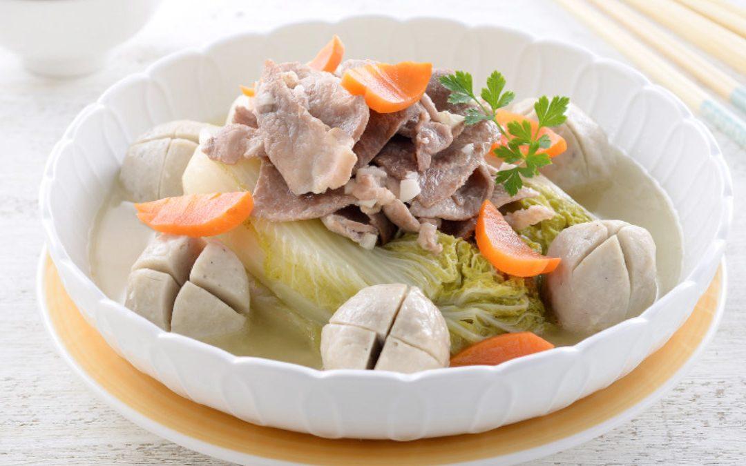活用虱目魚丸的料理 元氣美味翠玉菜