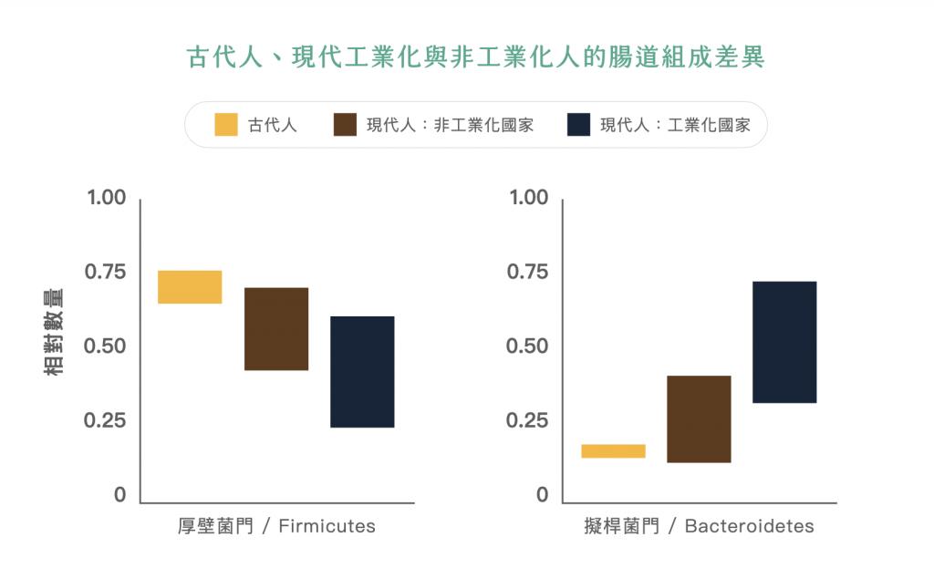 腸道細菌多樣性-益生菌-古代人-現代人